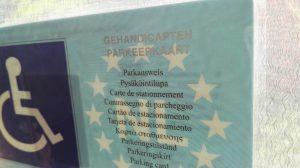 Europese gahedicaptenparkeerkaart