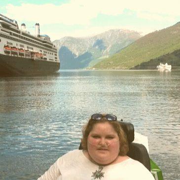 Sien Lagae op cruise in de Noorse Fjorden