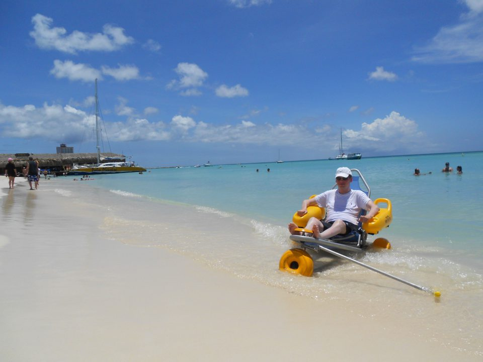strandganger in rolstoel