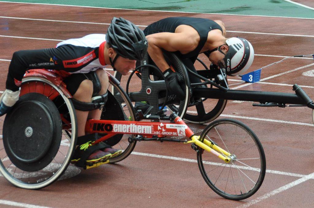 Peter Genyn paralympics rolstoel