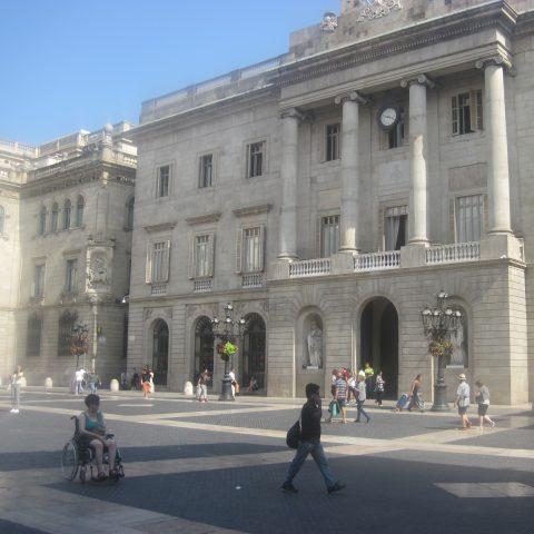 Met de rolstoel op Las Ramblas in Barcelona