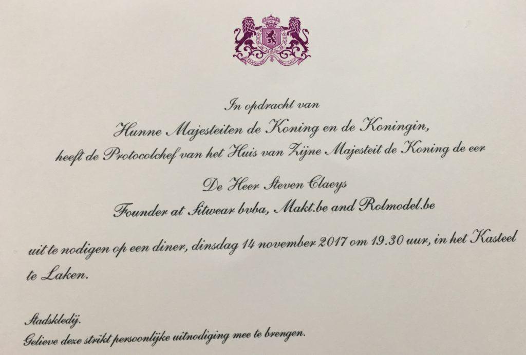 uitnodiging van de Koning